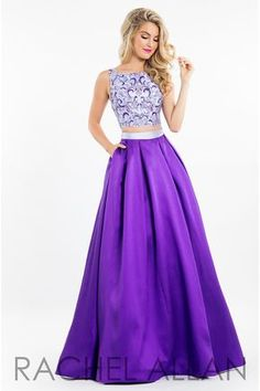 Rock this open back ball gown that has a Mikado skirt and a high neckline, and it's at Rsvp Prom and Pageant, your source of the HOTTEST Prom and Pageant Dresses!