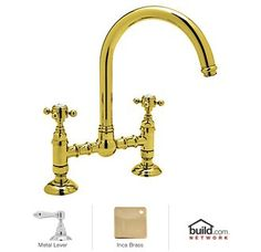View the Rohl A1461LM-2 Country Kitchen Bridge Faucet with Metal Lever Handles at FaucetDirect.com.