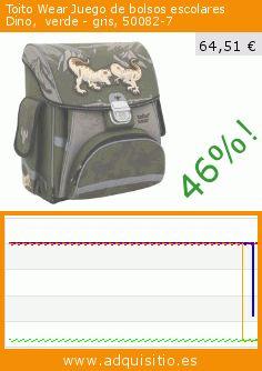Toito Wear Juego de bolsos escolares Dino,  verde - gris, 50082-7 (Luggage). Baja 46%! Precio actual 64,51 €, el precio anterior fue de 119,98 €. https://www.adquisitio.es/toito-wear/juego-bolsos-escolares-1