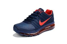 Nike Air Max 2017 KPU Mens Running Shoes Dark blue Red
