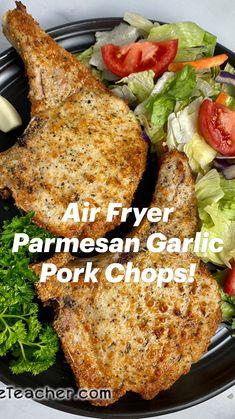 Air Fry Recipes, Air Fryer Recipes Easy, Pork Recipes, Crockpot Recipes, Yummy Recipes, Air Fryer Pork Chops, Air Frying, Pork Dishes, Heart Healthy Recipes