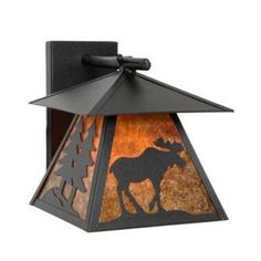 Steel Partners Moose Cascade 1 Light Outdoor Wall Lantern Finish: Rust, Shade Color: Bungalow Green