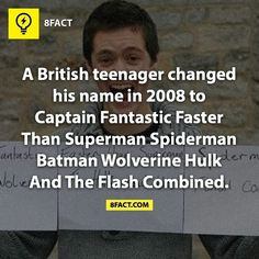 """8fact<<< so technically his name is Captain Combined if you take out all his """"middle names""""!! Hahahaha"""