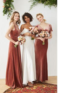 f0faa4e35b3 15 Best Velvet bridesmaid dresses images