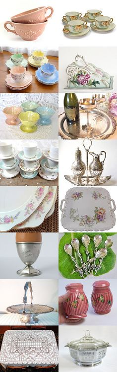 VINTAGE DINING - A Touch of Elegance by Dusty Nees on Etsy, www.PeriodElegance.etsy.com #Christmas gifts #gotvintageshops #gvsteam