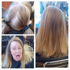 Color retouch & haircut