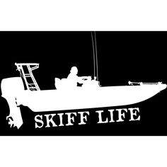Flats Skiff Car Decal, Boat Stickers  Everyone Should Have A Pair Of These!  http://amzn.to/2vzkFlw #boatbuilding