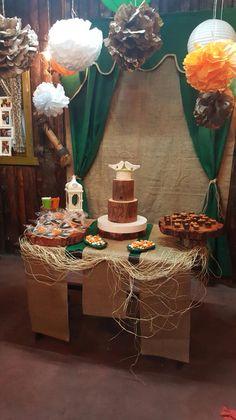 Rustic engagement, rustic cake, rustic wedding
