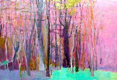 Wolf Kahn - Woodland Edge, 2002