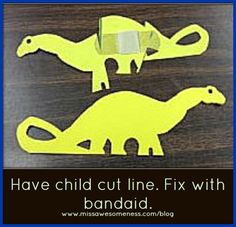 Be an animal doctor! Cut a line across the paper animal (surgery?) to practice cutting, then fix it with a band-aid - opening and applying a band-aid is a great self-help skill and fine motor task.