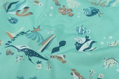 anemonefish fish Nemo Dory  Printed Cotton Fabric for Sewing Girl baby Dresses Bed Sewing Kids Sewing Material Tissu 100*140cm  #Affiliate