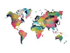World Map Tropical - JBJart