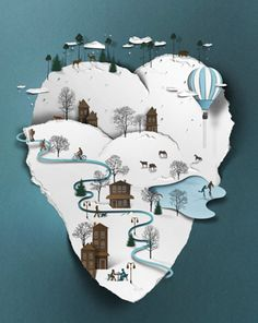 fantastic papercut-look-a-like illustrations by Eiko Ojala