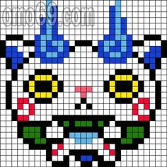 Yo-Kai Watch Perler Bead Pattern
