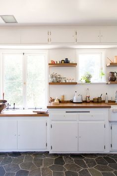 Natural stone floor  Dream house: the kitchen window / sfgirlbybay