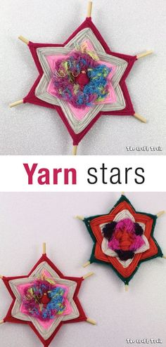 Gods Eye yarn stars