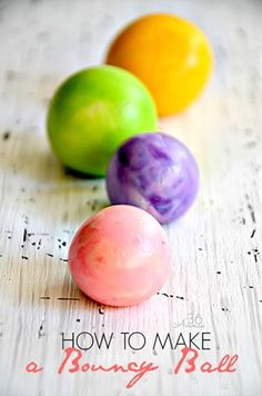 So COOL! You can make your own bouncy ball! Kids are going to love this kids activities. Perfect for summer vacations or rainy days