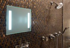 A fogless mirror for shaving in the shower Shower Mirror, Bathroom Mirrors, Bathroom Ideas, Bathrooms, Wall Mirrors, Small Bathroom, Master Bathroom, Web Design, Home