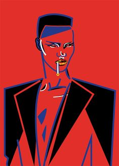 Grace Jones for Hen's Teeth Print by Marina Esmeraldo, shop online now