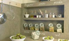 Querido Refúgio, Blog de decoração e organização com loja virtual: Uma cozinha organizada toda cinza, em cimento