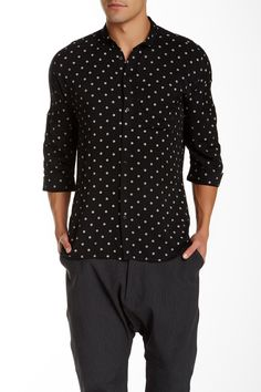 Singer 3/4 Length Sleeve Woven Shirt by CHAPTER on @nordstrom_rack