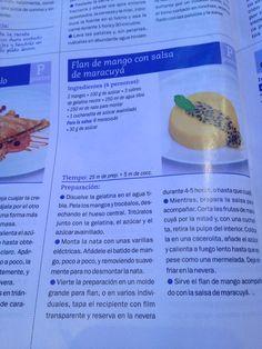 Flan de mango Salsa, Cantaloupe, Fruit, Food, Deserts, Recipes, Essen, Salsa Music, Meals