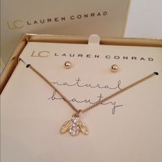 LC Necklace and Earring Set Lauren Conrad necklace and earrings. LC Lauren Conrad Jewelry Necklaces