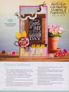 Stamps Paper Happiness: In Review: Chalkboard Feature--Good Day Chalkboard