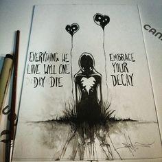 Illustration of Mental Illness And Disorder Series Creepy Drawings, Dark Drawings, Creepy Art, Cool Drawings, Depression Art, Arte Obscura, Cross Art, My Demons, Monsters