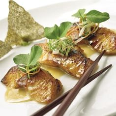 This delicious Miso-Glazed Black Cod #recipe is low carb and dairy-free