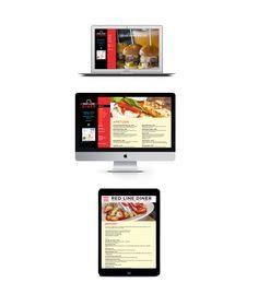 Red Line Diner Website Design