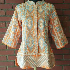 Gabriela tunic hand-embroidered by the T'boli by Filip + Inna