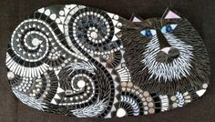 Phineas the Cat Mosaic Art Tile Original