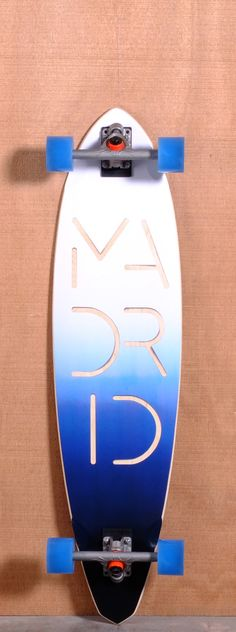 """The Madrid Paperlogo Hickey Longboard Complete is designed for Cruising an Carving. Ships fully assembled and ready to skate! Function: Cruising, Carving Features: Concave, Sanded Wheel Wells Material: 9 Ply Maple Length: 40"""" Width: 10"""" Wheelbase: 28.75"""" Thickness: 7/16"""" Hole Pattern: New School Grip: Black"""