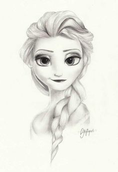 Fantastic Frozen Fan Art! We love this simple, spunky drawing of Elsa drawn by skylilyart!