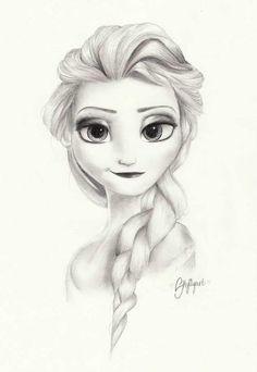 Fantastic Frozen Fan Art! We love this simple, spunky drawing of Elsa drawn by skylilyart!