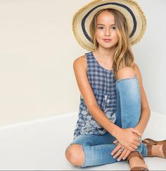 Cute Kids Fashion, Tween Fashion, Cute Outfits For Kids, Girl Fashion, Young Models, Child Models, School Girl Outfit, Girl Outfits, Kristina Pimenova 2016