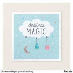 Shop Christmas Magic Napkins created by cutelittlething. Holiday Cards, Christmas Cards, Christmas Paper Napkins, White Elephant, Cloth Napkins, Elephant Gifts, Art Pieces, Joy, Magic