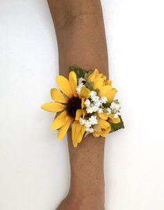 Sunflower Bridesmaid Bouquet, Sunflower Corsage, Sunflower Boutonniere, Prom Bouquet, Prom Corsage And Boutonniere, Lavender Bouquet, Sunflower Bouquets, Boutonnieres, Wedding Bouquets With Sunflowers