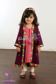Pakistani fashion for girls 2013 - kids frocks Pakistani designs 2013 Little Kid Fashion, Kids Fashion, Latest Fashion, Fashion Trends, Little Girl Dresses, Girls Dresses, Baby Dresses, Girls Kurti, Baby Dress Design