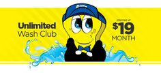 If you love having a clean car all the time , then Bill's Carwash Unlimited Wash Club is for you! For one low monthly fee, you can wash your car as often as you like. Plus, you get discounts off our detailing services with your membership. It's Quick, Convenient, and Unlimited Car Cleaning, Car Wash, Love You, Club, Disney Characters, Te Amo, Je T'aime, I Love You, Disney Face Characters