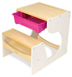 Functional Kids Desk with Space Saving Idea - Kids Desk for Painting and Writing