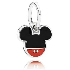 The PANDORA Disney Mickey Icon Charm features a Mickey Mouse Icon in Red and Black Enamel. This charm couldn't get any more perfect to show your love for Mickey and Disney! This charm is impossible to pass up! Disney Pandora Bracelet, Pandora Charms Disney, Pandora Beads, Pandora Bracelets, Pandora Jewelry, Charm Jewelry, Charm Bracelets, Pandora Pandora, Pandora Rings