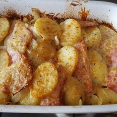 Syn Free Bacon, Onion and Potato Bake | Slimming World - Pinch Of Nom