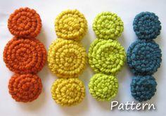 PATTERN for crochet rosette flowers