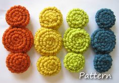 CROCHET PATTERN PDF -Instant Digital Download - Crocheted rosette flowers