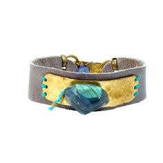 nomada grey leather bracelet