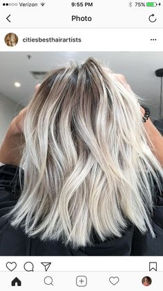 Hair Color Trends In 2019 Before & After: Highlights On Hair + Tips;Trendy Hairstyles And Colors Women Hair Colors; hair color hair styles Hair Color Trends in 2019 Before & After: Highlights on Hair + Tips Blonde Roots, Ash Blonde Hair, Platinum Blonde Hair, Growing Out Platinum Hair, Blonde Hair Fall 2018, Blonde Fall Hair Color, Winter Blonde Hair, Platinum Blonde Highlights, Blonde Ends