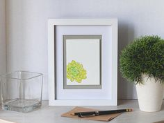 Carte de souhaits cactus aquarelle illustration idée Paper Envelopes, Watercolor Drawing, Kraft Paper, Cactus, Drawings, Frame, Illustration, Handmade, Watercolor Painting