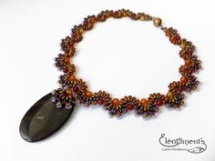 https://flic.kr/p/qQrJiZ | 1000 Autumn Colours - necklace | A set made with bronze and amethyst superduos